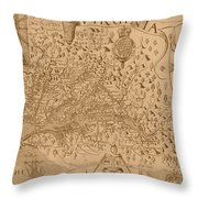 Map Of Virginia 1698 Throw Pillow