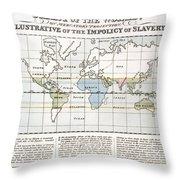 Map Sugar Trade Throw Pillow