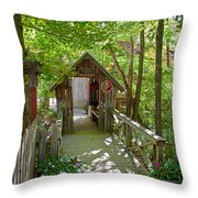 Maple Syrup Barn Throw Pillow