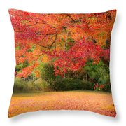 Maple In Red And Orange Throw Pillow