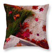 Maple Leaf Fall 3 - The Getty Throw Pillow