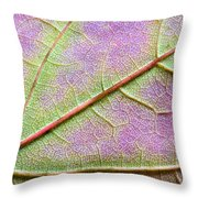 Maple Leaf Macro Throw Pillow
