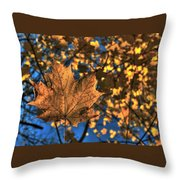 Maple Leaf Still Standing Throw Pillow