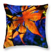 Maple Leaf Tracery Throw Pillow