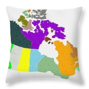 Maple Leaves Map Of Canada Throw Pillow