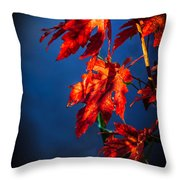 Maple Leaves Shadows Throw Pillow