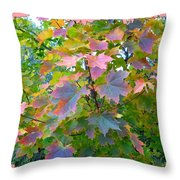 Maple Magnetism Painting Throw Pillow