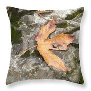 Maple Rock Throw Pillow