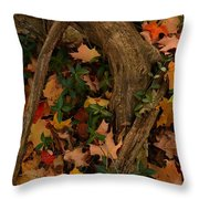 Maple Root Throw Pillow