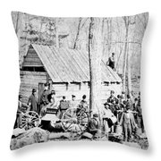 Maple Sugar Party, C1900 Throw Pillow