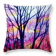 Maple Tree Sunset Throw Pillow