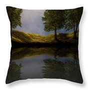 Maples In Moonlight Reflections Throw Pillow