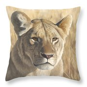 Mara Lioness Throw Pillow