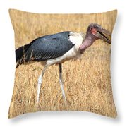 Marabou Stork Kenya Throw Pillow