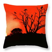 Marabou Tree Throw Pillow