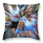 Marathon Abstract 2 Throw Pillow