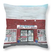 Marathon Deli Throw Pillow