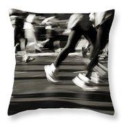 Marathon, Nyc, New York City, New York Throw Pillow