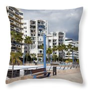 Marbella Apartment Buildings Throw Pillow