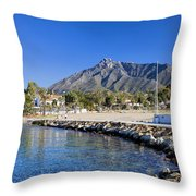 Marbella Holiday Resort In Spain Throw Pillow