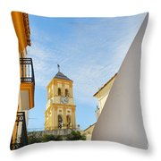 Marbella Old Town Throw Pillow
