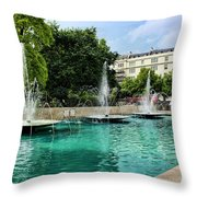 Marble Arch Fountains  Throw Pillow