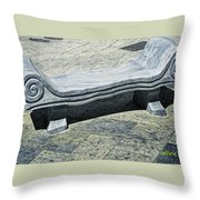 Abstract Marble Bench Throw Pillow