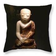Buddhist Figure   Throw Pillow