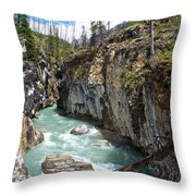 Marble Canyon In Kootenay Np-bc  Throw Pillow
