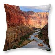 Marble Canyon - April Throw Pillow