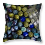 Marble Collection Jar 1 A Throw Pillow