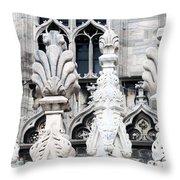 Marble Facade II Duomo Di Milano Italia Throw Pillow