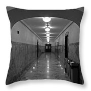 Marble Hallway Throw Pillow