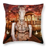 Marble Horse  Throw Pillow