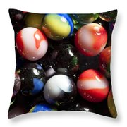 Marble King Marbles 1 Throw Pillow