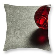 Marble Red Crackle 1 Throw Pillow