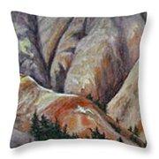 Marble Ridge Throw Pillow by Elaine Booth-Kallweit
