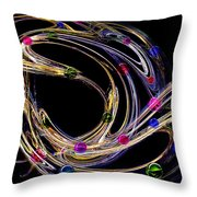 Marble Shooter Throw Pillow