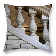 Marble Staircase Throw Pillow