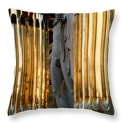 Marble Statue Throw Pillow