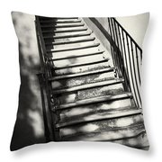 Marble Steps Throw Pillow