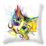 Marble The Cat Throw Pillow