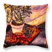 Marble Twirl Throw Pillow