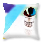 Marble And The Thimble Throw Pillow