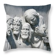 Marble Work Throw Pillow