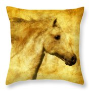 Marbled War Horse Throw Pillow