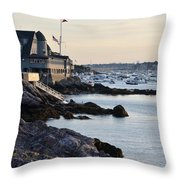 Marblehead Harbor Chandler Hovey Park Throw Pillow