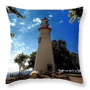 Marblehead IIi Throw Pillow by Richard Gregurich