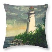 Marblehead Light On Lake Erie Throw Pillow