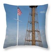 Marblehead Light Tower Throw Pillow